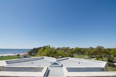 Rooftop View. A view of the Gulf of Mexico from a rooftop on the Beauvoir Estate Royalty Free Stock Photo