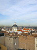 Rooftop view  historic  modern metropolitan Madrid Spain Europe Royalty Free Stock Photos