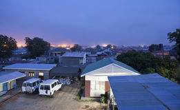 Rooftop view of Juba, South Sudan Royalty Free Stock Images