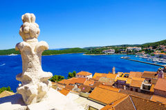 Rooftop view, Korcula Royalty Free Stock Photography