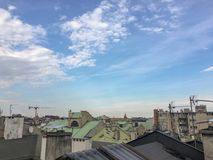 Rooftop view. Of Krakow old town Stock Images