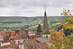 Rooftop View of Lewes, England Royalty Free Stock Images