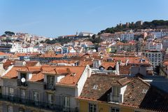 Rooftop view of Lisbon stock image