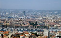 Rooftop view of Marseille. Stock Photos