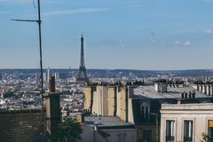 Rooftop view of Montmartre in Paris royalty free stock image