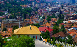 Rooftop view of the old center of Sarajevo Royalty Free Stock Photos