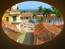 Rooftop view of old city in Trinidad Stock Photo