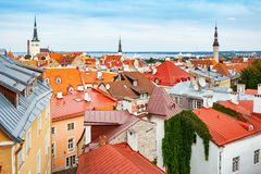 Cityscape of Tallinn. Estonia, EU royalty free stock image