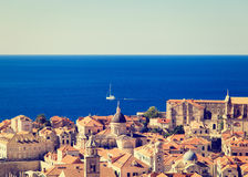 Rooftop view of old town in Dubrovnik, Croatia Royalty Free Stock Image