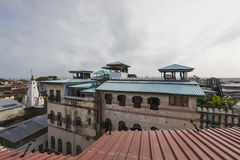 Rooftop view over the african city of stonetown zanzibar showing Stock Photos
