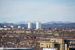 A rooftop view over central Glasgow, Scotland, UK. A rooftop view over central Glasgow looking North West Stock Image