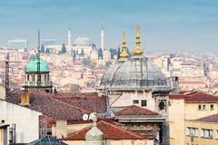 Rooftop view over Istanbul Royalty Free Stock Photography