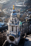 rooftop view over London on a foggy day from St Paul& x27;s cathedral Royalty Free Stock Images