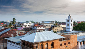 Rooftop view over stonetown zanzibar Royalty Free Stock Photos