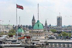Rooftop view over Whitehall London England UK Stock Photography