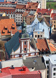 Rooftop view of Riga. Latvia Royalty Free Stock Images
