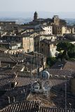 Rooftop view of Siena. Stock Image