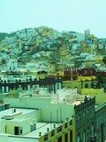 Rooftop view Vegueta Grand Canary Island Plaza Santa Ana Town Ha Stock Photos