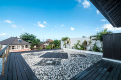 Rooftop view villa and hotel Royalty Free Stock Image