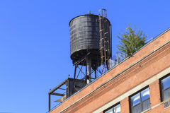 Rooftop water tank Royalty Free Stock Images
