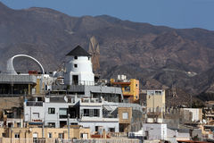 Rooftop Windmill - Aguilas - Spain Stock Images
