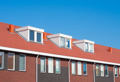 Rooftop with windows Royalty Free Stock Photos
