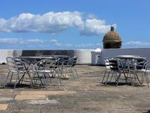Rooftopcafe Arkivbilder