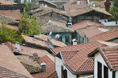 Rooftops. A picture from old town of Ankara Royalty Free Stock Photography
