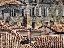 Rooftops. Of Saint Emilion village UNESCO world heritage centre Royalty Free Stock Image