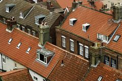 Rooftops. Rooftop view of houses Royalty Free Stock Photography