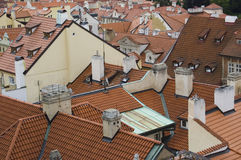 Rooftops. View over the rooftops of Prague, Czech Republic Royalty Free Stock Image