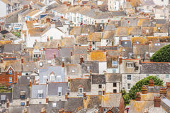 Rooftops. Aerial rooftop abstract of buildings in Portland Bill near Weymouth, UK Stock Images