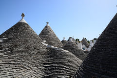 Rooftops of Alberobello, Italy Royalty Free Stock Photos