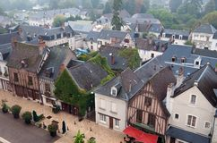 Rooftops in Amboise Stock Photography