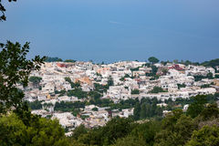 Rooftops of Anacapri Royalty Free Stock Photos