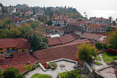 Rooftops of Antalya old town of Kaleici Royalty Free Stock Images
