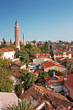 Rooftops of Antalya old town of Kaleici Stock Photo