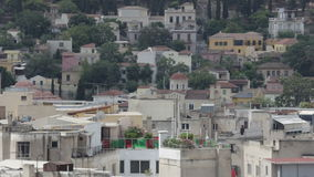 Rooftops of Athens, Greece stock video footage