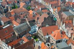 Rooftops av Bruges, Belgien. Royaltyfria Foton