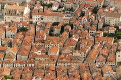Rooftops av dubrovnik arkivbilder