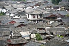 Lijiang Rooftops Royaltyfria Foton