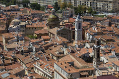 Rooftops av Nice - söder av Frankrike Royaltyfri Fotografi