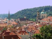 Rooftops av Prague Arkivfoto