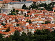 Rooftops av Prague Royaltyfria Bilder