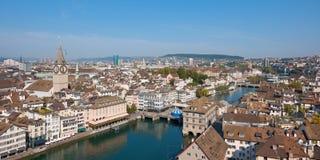 Rooftops av Zurich Arkivfoto