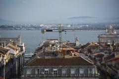 Rooftops in Baixa Lisbon Royalty Free Stock Image
