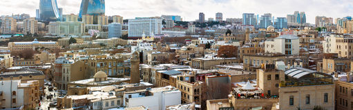 Rooftops of Baku Old City Stock Photography