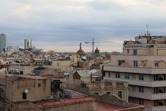 Rooftops of Barcelona, Spain
