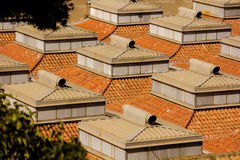 Rooftops in Barcelona Stock Photo