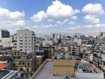Rooftops of Beirut, Lebanon, the Middle East. Taken from the twelfth floor of a building in the Hamra neighborhood of Beirut, Lebanon stock image